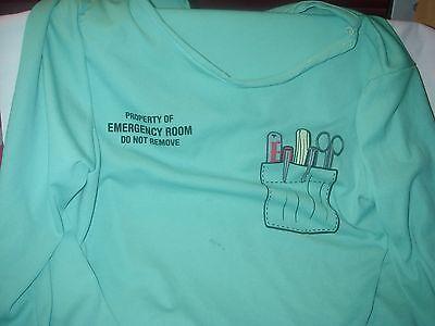 DR/ NURSE EMERGENCY ROOM SCRUBS KIDS 2 PC POLY COSTUME SIZE LARGE HALLOWEEN](Nurse Scrubs Costume)