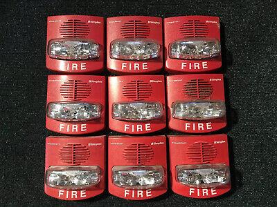 Lot Of 9 Simplex Truealert Fire Alarm Horn Strobes