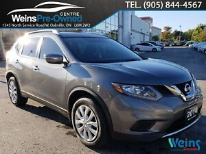 2014 Nissan Rogue S| FWD| LOW KM'S| BACK UP CAMERA| POWER GROUP|
