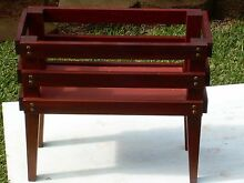 AUSTRALIAN RED CEDAR PLANT STAND--SOLID CONSTRUCTION--WON'T ROT Sapphire Beach Coffs Harbour City Preview