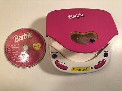 Vintage Barbie for girls 1995 Mattel Disc CD Player - Pretend CD Player