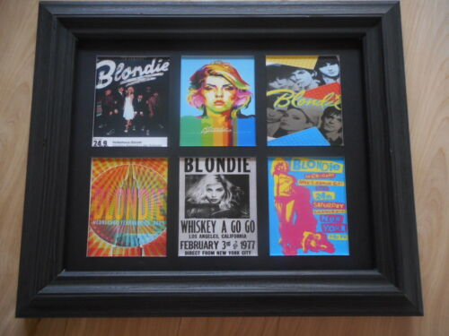 BLONDIE (Debbie Harry) - 6 POSTERS in a mat  (Buy UNFRAMED $24 or FRAMED $47)