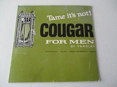 VINTAGE YARDLEY FOR MEN - COUGAR POINT OF SALE ADVERTISING SIGN