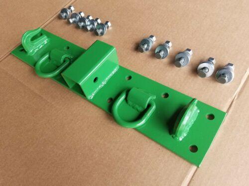 JD John Deere, Kubota Compact Tractor Bolt on Chain Hooks, D Rings, Receiver,