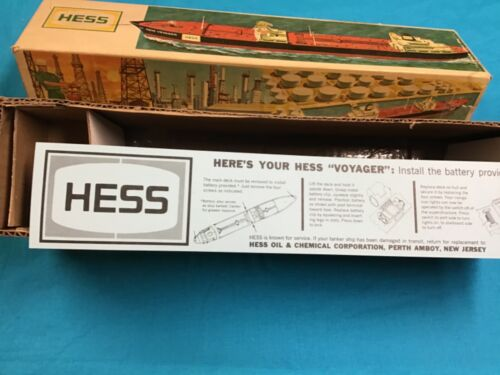 1966 Hess Voyager Battery Instruction Card