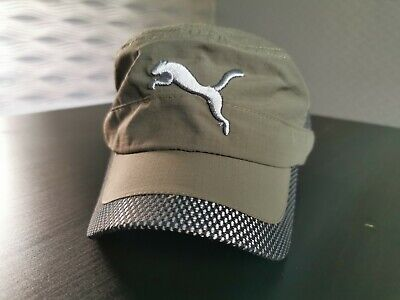 ** PUMA ** Mens Green Baseball Cap Summer Hat Adjustable Strap One Size