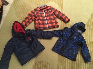 Boys size 7 fall/winter coats x 3