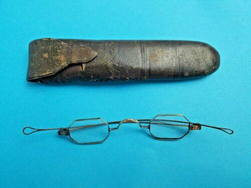 Antique Civil War Era 1850 -1880 Octagon Eyeglasses Case Amazing Piece History