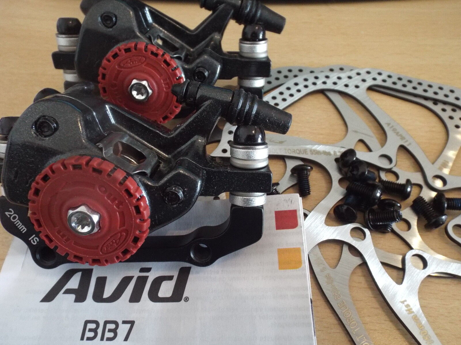 Avid BB7 Mechanical Disc Brake Front and Rear Calipers with 160mm G3 Rotors
