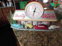 Burwood Products Old Fashioned Family Drive-In Wall Clock (#2899)