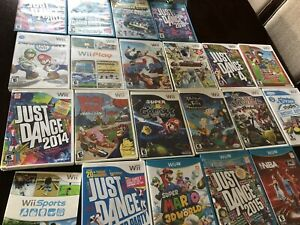 Variety of Nintendo Wii and Wii U games!! Your pick - $25 each