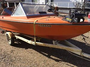 1978 boat with 75 horse evinrude & trailer