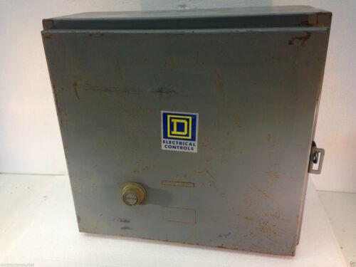 Square D 8536-SD01 Starter 600V 3PH NEMA Size 2 Form S Series A Motor Starter