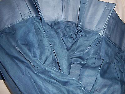 - JCPENNEY LISETTE VOILE SHEER PINCH PLEAT PANELS - 96 x 54 - CALVARY BLUE