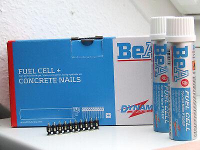 1000 BeA Stahlnägel Betonnägel 15 mm + 2 x Gas für Spit Pulsa 700 P/E
