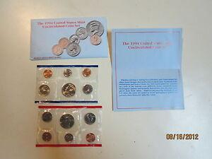 1-SET-BUSTA-1994-NON-CIRCOLATE-MONETE-MINT-FDC-SIGILLATE-RARO-USA-DOLLARO-DOLLAR