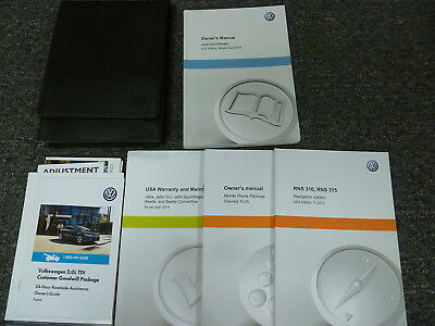 2014 Volkswagen VW Jetta SportWagen Owner Owner's Manual User Guide S SE TDI