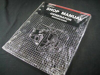 Used, Honda Generator EN2000 2500 Shop Service Repair Manual Book Catalog Guide for sale  Shipping to India