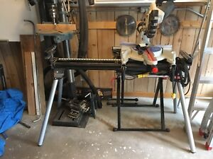 Mitre saw with stand.