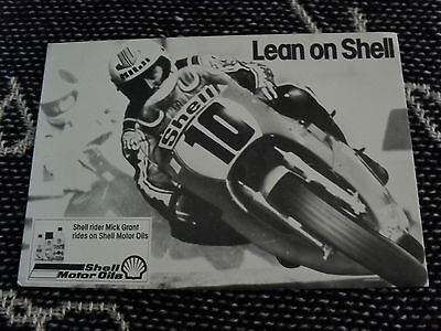 MICK GRANT - SHELL OILS MOTORCYCLE POSTCARD - 1979?
