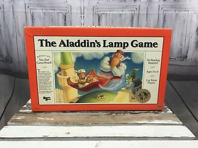 The Aladdin's Lamp Game Board Game 4 Charcters in ColorSpinner AS IS