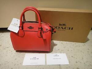 e1a072d2eaaa9 BNWT – Coach Crossgrain leather Micro Mini Bennett Satchel bag ...