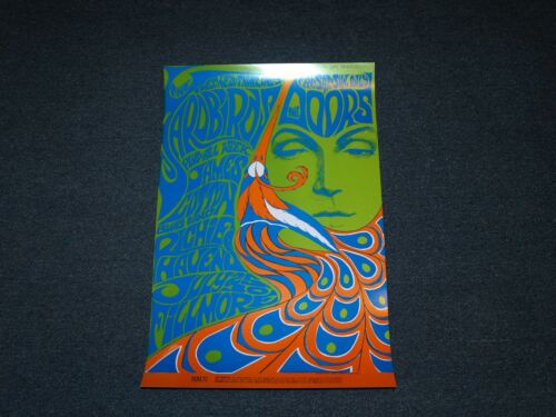 Doors Yardbirds Fillmore Poster Psychedelic 1967 BG75 Bonnie MacLean Rare