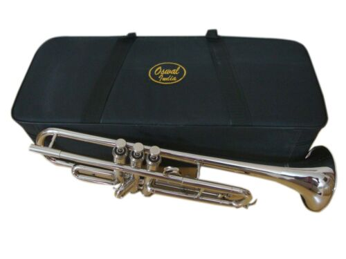 NEW YEAR SALE Brand New Silver Bb FLAT Trumpet With Free Case+Mouthpiece