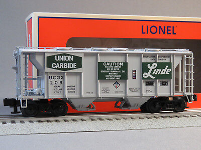 LIONEL LINDE PS-2 COVERED HOPPER CAR 209 O GAUGE train freight gas 6-85101 NEW