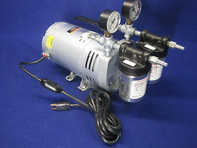 Gast Vacuum Pump 0523-v4f-g588dx Rotary Vane 14hp 26 In Hg Max Complete