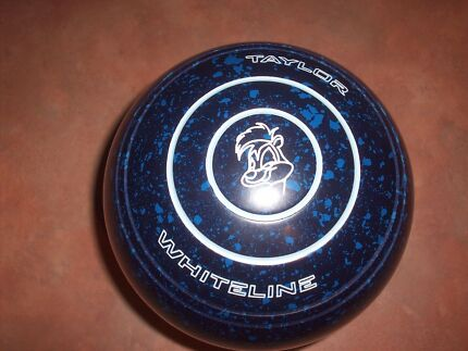 Thomas Taylor WHITELINE Lawn Bowls Size 1H WB22 Blue Speckled