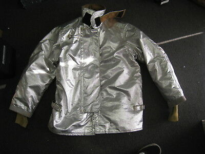 Janesville Lion Firefighter Proximity Jacket Size 46 X 32 R Aluminized Turn Out