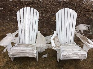 Wooden outdoor chairs