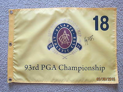 KEEGAN BRADLEY SIGNED 2011 PGA CHAMPIONSHIP GOLF FLAG MASTERS US OPEN 2016