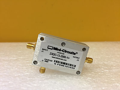 Mini-circuits Zadc-13-2000-1 800 To 2000 Mhz Sma F Directional Coupler Tested