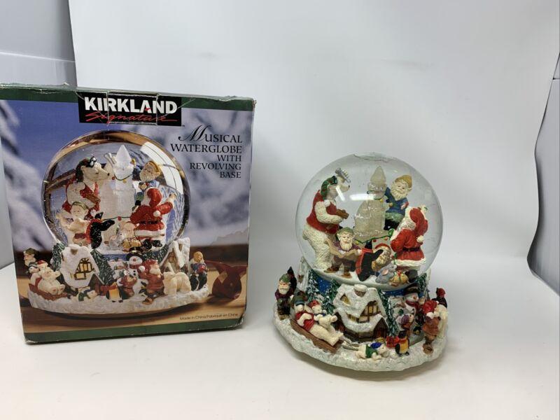 "Kirkland Signature Musical Waterglobe W/ Revolving Base #109619 ~ ""Jingle Bells"""