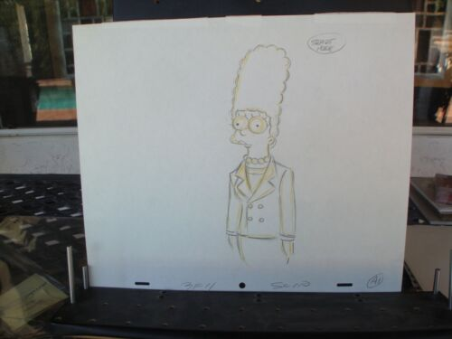 Great lot of 6 production drawings from the Simpsons