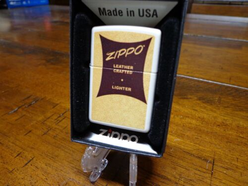 1950 ZIPPO LEATHER CRAFTED BOX DESIGN ZIPPO LIGHTER MINT IN BOX