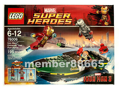 Brand New Lego 76006 Marvel Super Heroes Iron Man Extremis Sea Port Battle