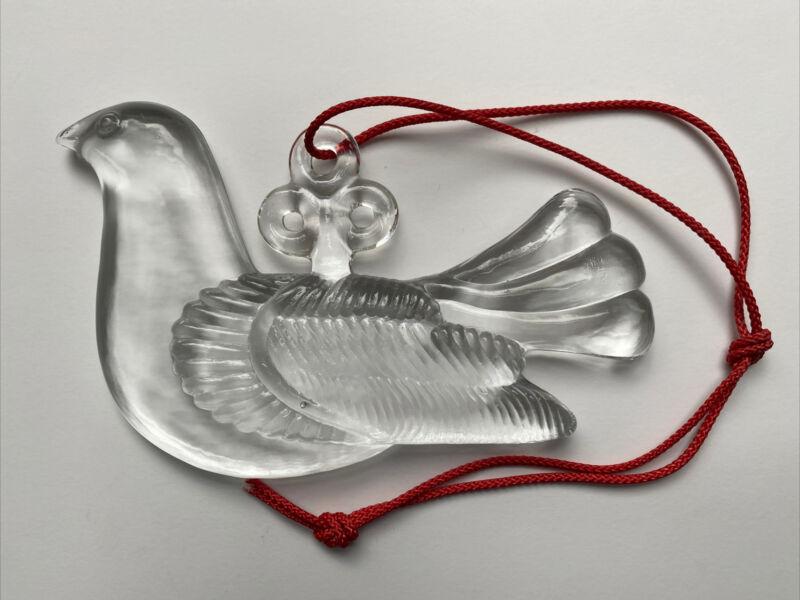 Kosta Boda Sweden Suncatcher Glass Dove Peace Bird Bertil Vallien Window Hanging