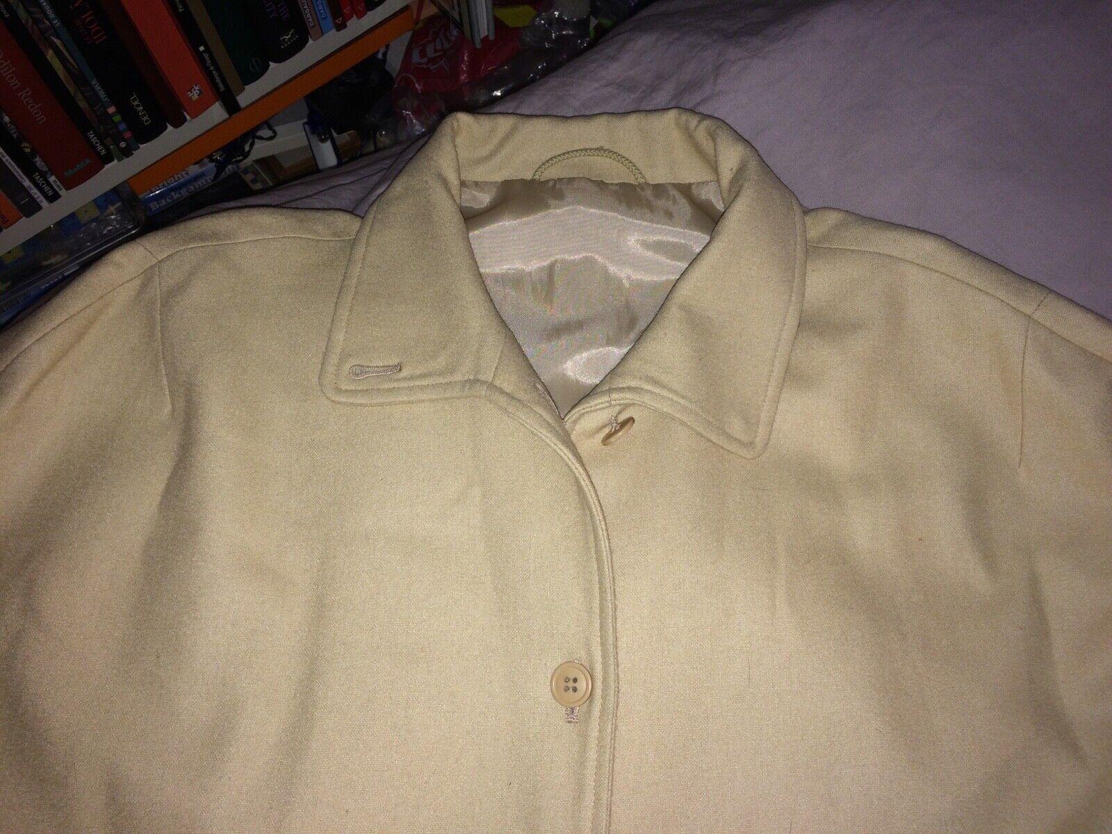 Burberry cape manteau laine camel beige m l 40 42 robe veste top 8 10 miu vintag