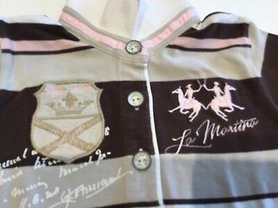 Polo Poloshirt La Martina Gr. 6 (eher für 4-5 Jahre) rosa beige braun , gebraucht gebraucht kaufen  Wälschbuch