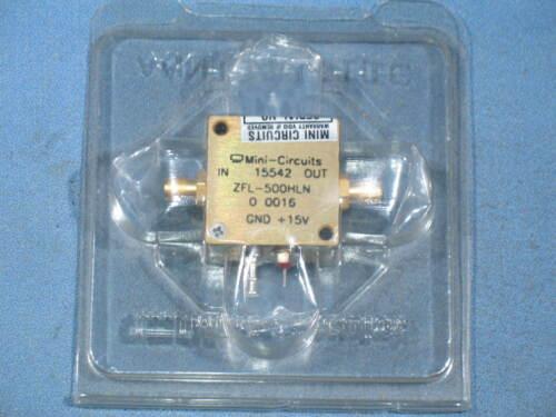 NEW - Mini Circuits ZFL-500HLN Amplifier 10-500 MHz 3.8dB NF 16dB +15V