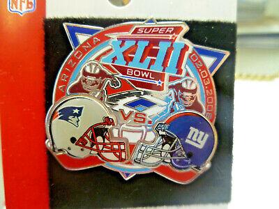 2008 Super Bowl 42 XLII New England Patriots vs New York Giants Arizona NFL Pin