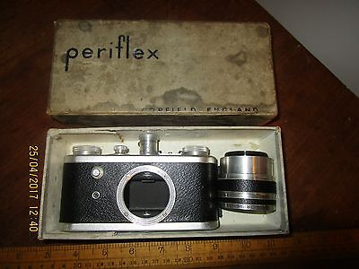 Vintage Corfield Periflex camera with Lumax 1:3,5/ 45 lens and original box