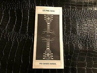 1981 VINTAGE GIBSON GUITAR PRE-OWNERS MANUAL - LES PAUL SERIES