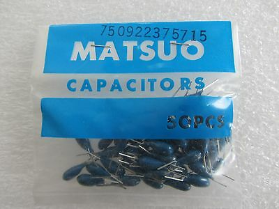 Matsuo 10pcs Nos Ja Tantalum Capacitor 4.7uf 50v Radial Leads Japan Made Sq