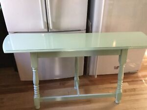 Mint green Sofa table- 1 available