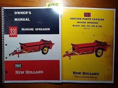New Holland 331 Manure Spreader Owners Operators Manual 363 Parts 161