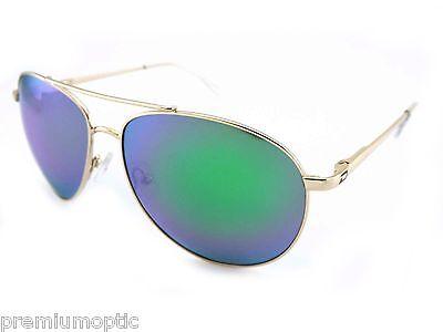 DIRTY DOG Womens Polarised VANGO metal Sunglasses Gold / Green Mirror 53419